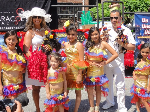 Anthony Rubio with Dogs at 2012 Colombian Independence Day Parade Queens New York