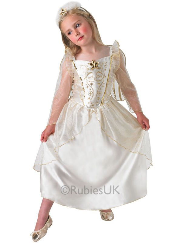 Age 3-8 Girls Angel Costume Kids Nativity Christmas Xmas Fancy Dress Outfit