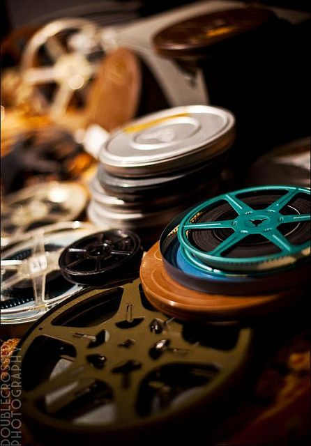 Old movie reels with film. How times have changed. by tanjatiziana