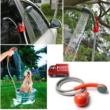 NEW Handheld Portable Shower Head Sprayer Outdoor Beach Car Wash Pet Cleaning US