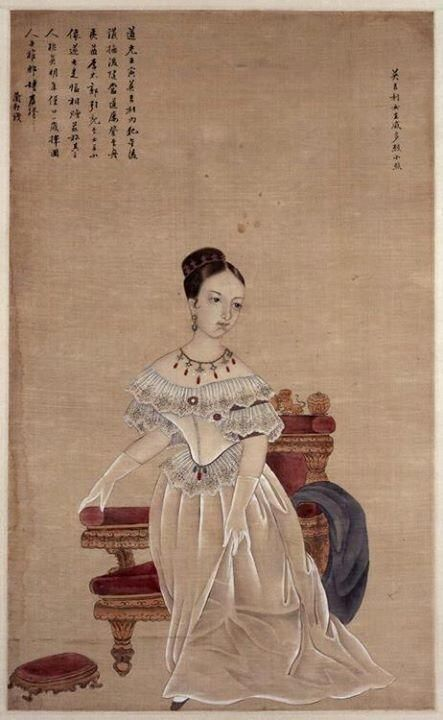 Chinese portrait of Queen Victoria, early 19th Century.: