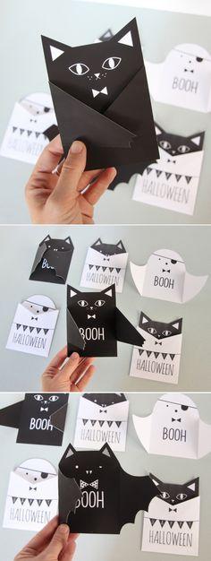 DIY Halloween Invite & Card Template Set | #PrettyPresent I #DIYHalloweenCard I #FreeHalloweenInvite