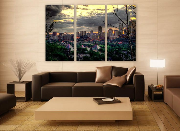 Edmonton Cityscape Canvas Print 3 Panels Print Wall Decor Wall Art Canada Cityscape Photography Print for Home and Office Wall Decoration by ZellartCo TAGS canada cityscape skyscraper canvas skyscrapers abstract art wall art city photography minimalist art canvas print toronto edmonton skyline edmonton cityscape