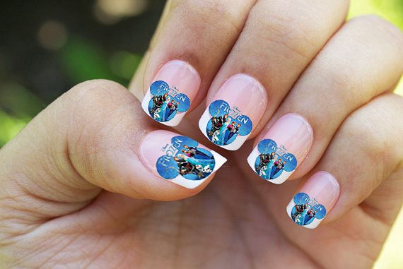 disney frozen mickey mouse ears nail decals