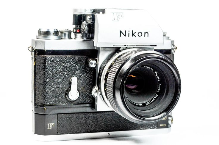Nikon F Photomic 35mm SLR Camera with Nikon Motor Drive and Micro Nikkor P 55mm Lens #Nikon #Camera #Vintage #photography #Filmphotography