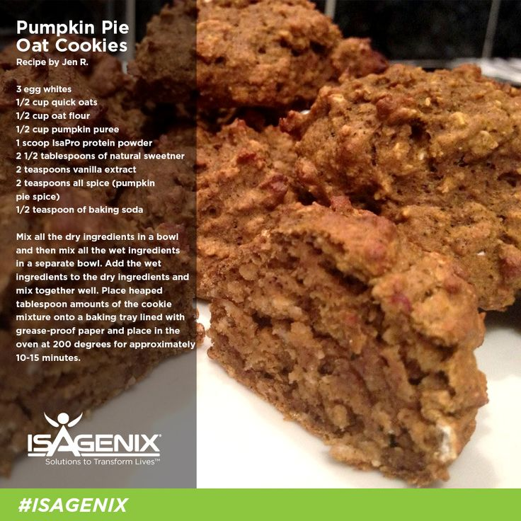 Check out this delicious Pumpkin Pie Oat Cookies recipe from Jen R.!