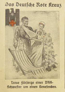 Deutsches Rotes Kreuz, postcard