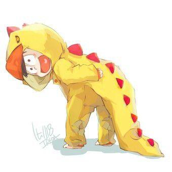 恐竜パジャマな十四松