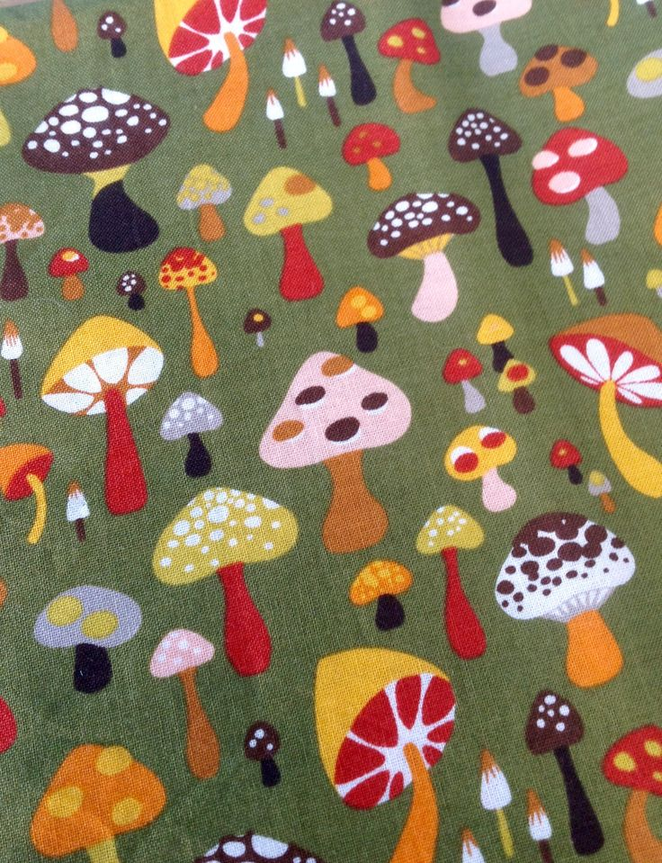 "FREE SHIPPING-Willow Shrooms-The Alexander Henry Fabrics Collection-18"" x 43""-Retro-Hippie-Craft-Sewing-Mushrooms Fabric-Quilting-Bohemian by ellansrelics02 on Etsy https://www.etsy.com/listing/524921660/free-shipping-willow-shrooms-the"