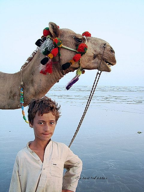 Camel Boy - Karachi Beach