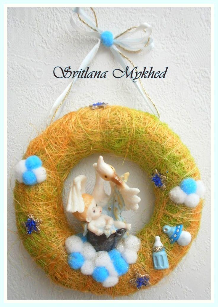 """Couronne avec prenom """"Naissance"""" (personnalisables) . Création unique. : Décoration pour enfants par perles-et-couronnes"""