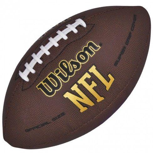 Bola Wilson Futebol Americano Super Grip | Loja Wilson | Botoli Esportes - Marrom/Marrom