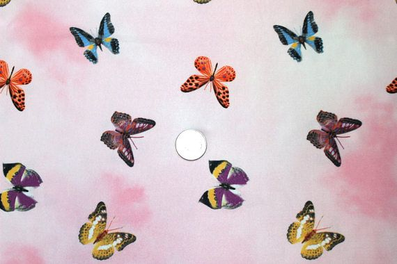 SALE Fabric Lycra spandex swimwear dance wear butterflies on
