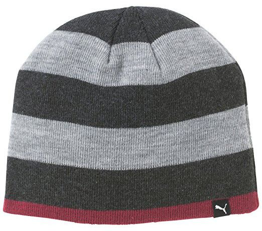 Keep that winter chill off of your head and ears with this great value womens striped knitted golf beanie hat by Puma!