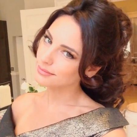 PARTY HAIR: Kelly Brook's curled updo for night out in London - Beauty & Hair News - handbag.com