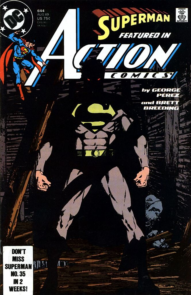A great cover by George Perez, one of the first Superman comics.
