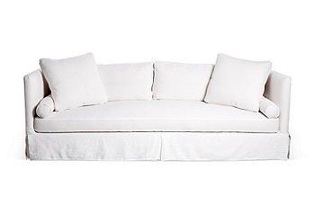 Love the Look   One Kings Lane   Oliver Slipcover Sofa, White