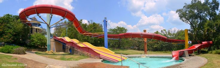 Hot water slides at Forever Resort Badplaas South Africa.     #SAdvrstyEcoTour http://geogypsytraveler.com/2014/02/23/forever-resort-badplaas-south-africa/
