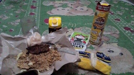 fried rice, kebab and also sari roti