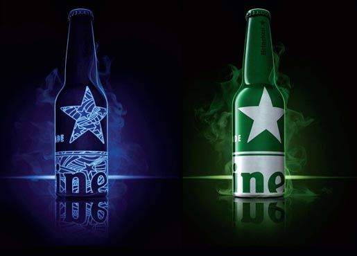 Heineken STR Bottle > UV print, very cool