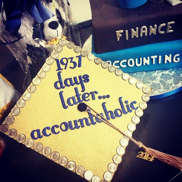 17 best images about accountant and finance majors for Accounting graduation cap decoration