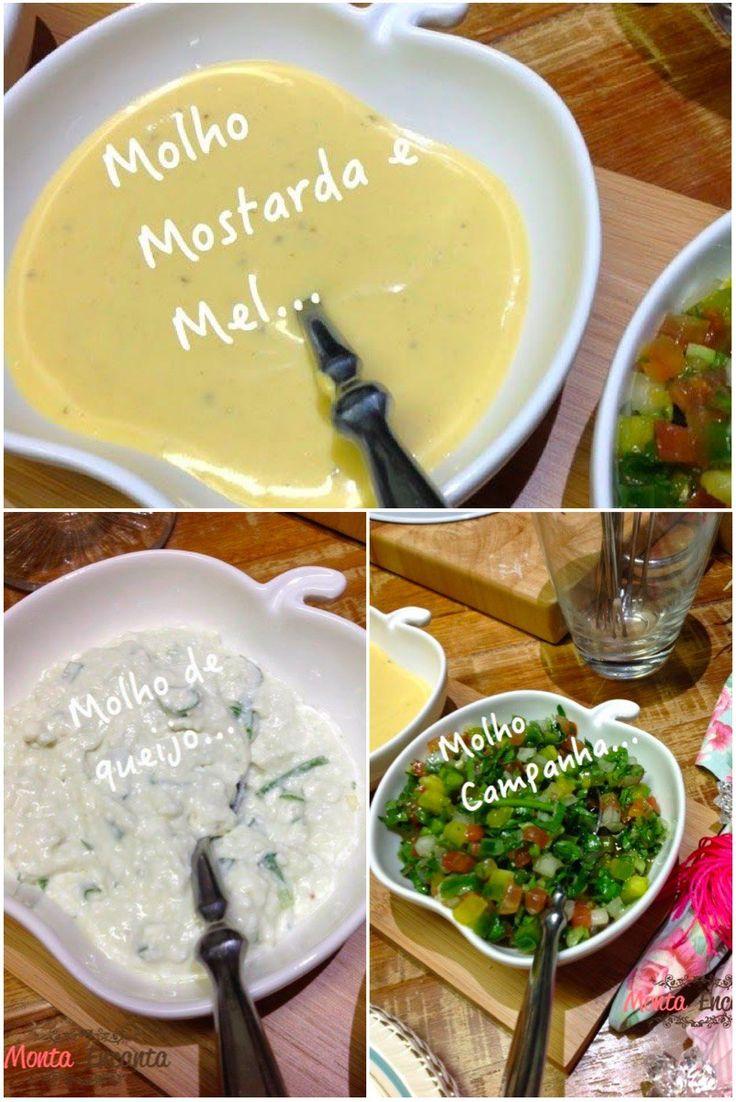 Molhos para Fondue de Carne: Molho Mostarda Dijon e Mel, Molho de queijo cottage, Molho Campanha Esses de hoje ficam perfeitos com fondue, eu usei assim, mas também ficam ótimos com saladas, c…