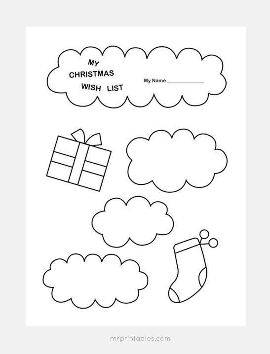 printable Christmas wish list templates for kids