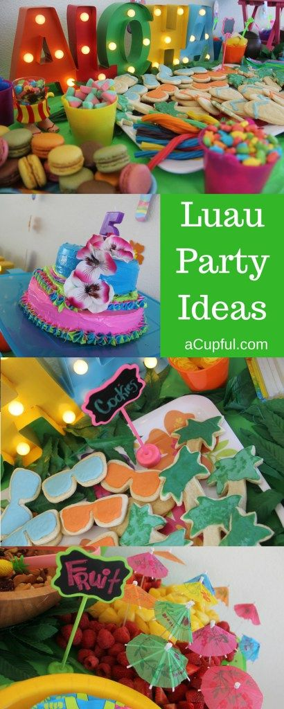 Luau Birthday ideas perfect for kids!  DIY #luau themed #party details at…