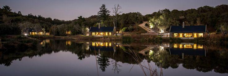 Bush Villas at night