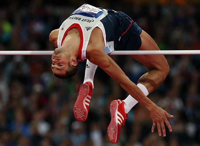 Medals: Robert Grabarz during the men's high jump final