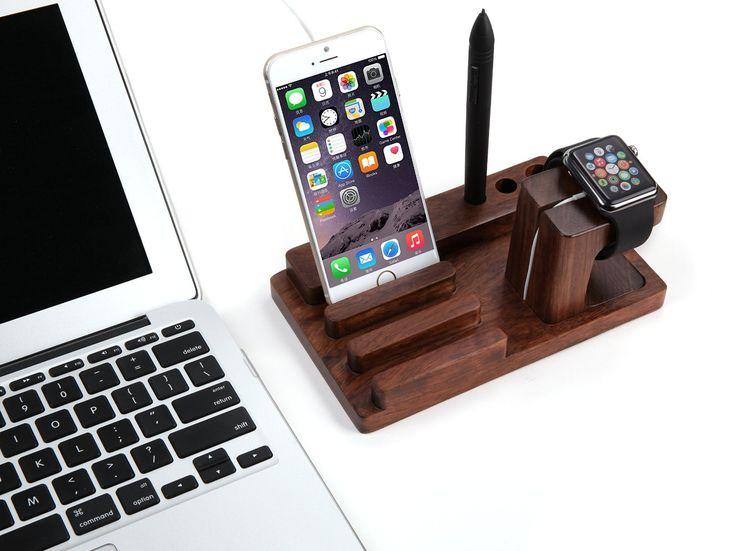 ELTD Apple watch Stand, dispositivo Multi madera de soporte de carga Dock Station para Apple iPhone 6 Plus 5S 5C 5 4S y iPad 2 Air Mini 3, Tab Samsung Galaxy Note S6 S5 S4, Nexus, HTC, HUAWEI T1 7.0, Motorola, Nokia, más teléfonos y tabletas (Multi Stand - Wood) - Electrónica - Amazon.es