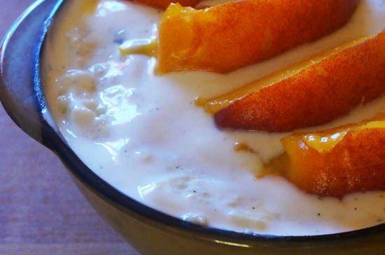 Dziabnij zdrowo!: Brzoskwiniowy pudding jaglany na gorące dni.