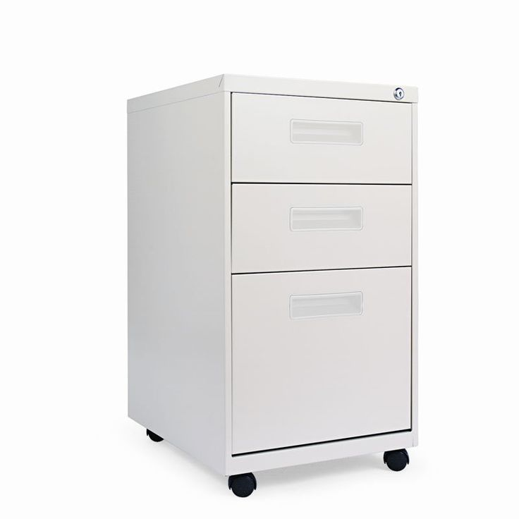Alera Mobile Pedestal File Cabinet with Visible Casters-3 Drawers Putty - ALEPABBFPY