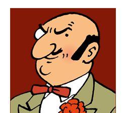 Rastapopoulos! Aline for Tintin!