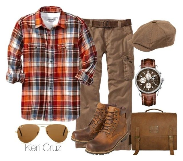 """""""Rugged Gentleman"""" by keri-cruz ❤ liked on Polyvore featuring Old Navy, Earthkeepers By Timberland, Ray-Ban and Christys'"""