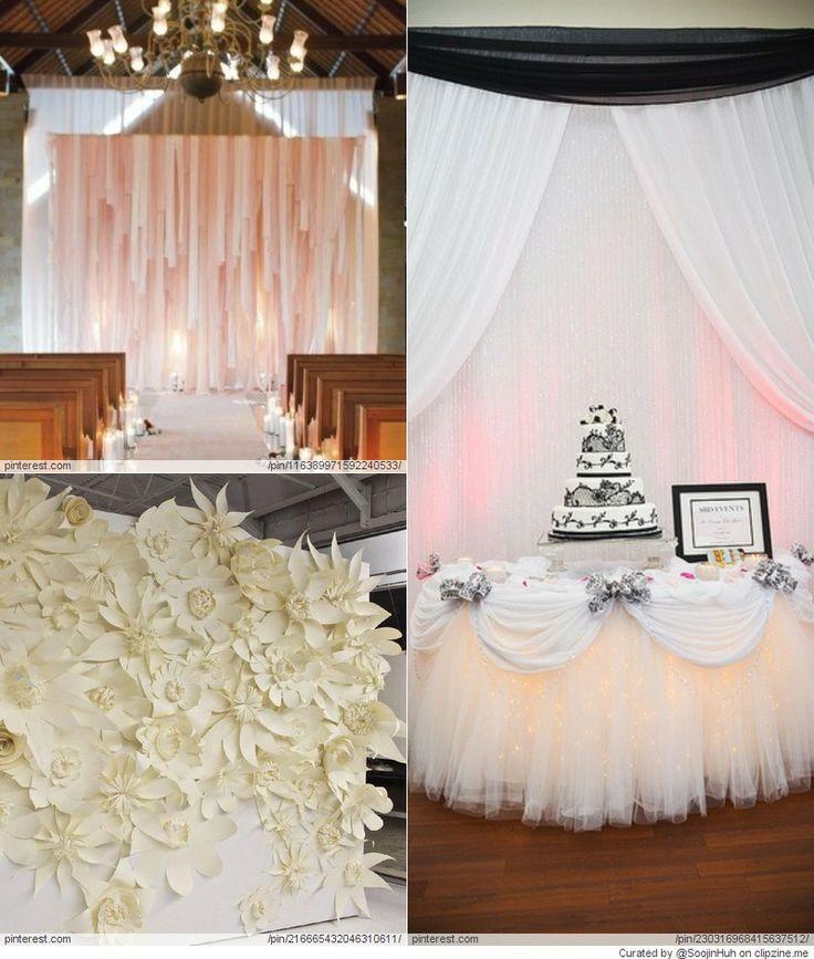 Wedding Backdrop DIY Ideas Everything Wedding Pinterest DIY and crafts Wedding and Blog