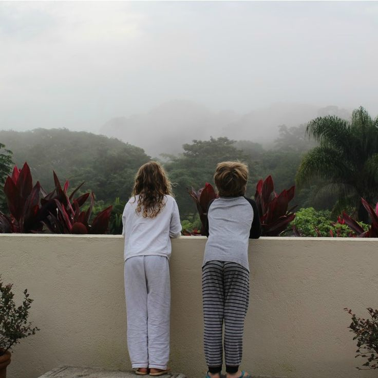 Our first misty morning in the mountains of Atenas