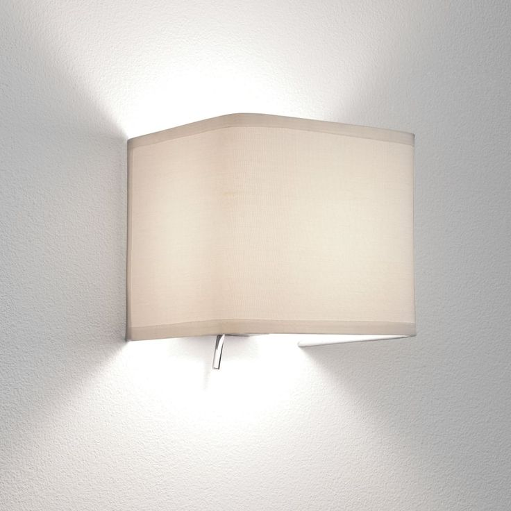 Astro Lighting 0766 Ashino White Fabric Switched Wall Light