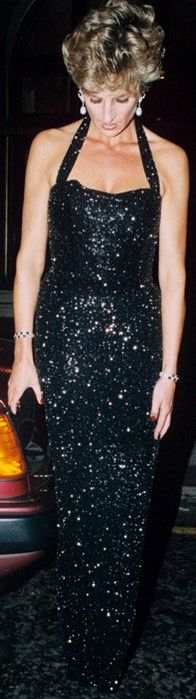 June 21, 1994: Princess Diana leaving the Ritz after attending a party in honour of Sir James Goldsmith being elected as a Euro MP.