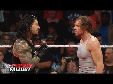 Ambrose: We're brothers now but it's on! Roman: No matter what we'll always be brothers BELIEVE THAT {Raw Fallout: November/16/2015}