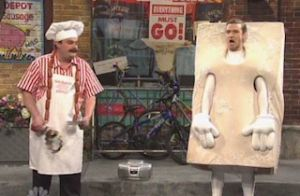 LOL  'Bring It On Down To Veganville' Justin Timberlake Reprises His Rapping 'Homelessville' Mascot On SNL