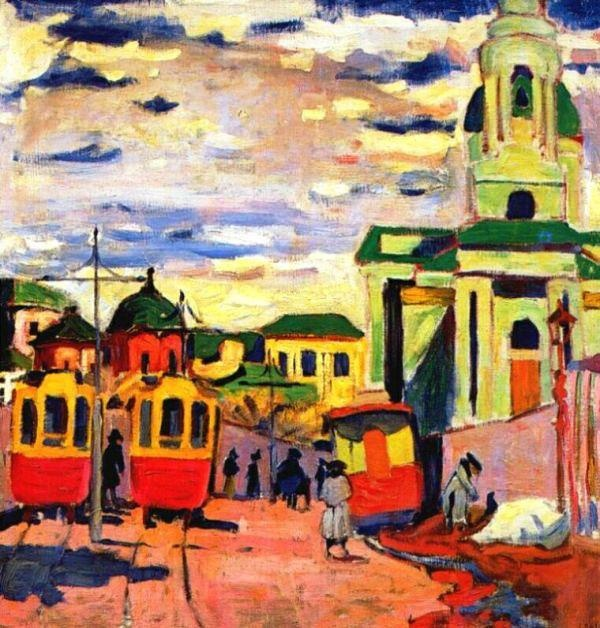 Aristarkh Lentulov - Street, Moscow, 1910. Private Collection