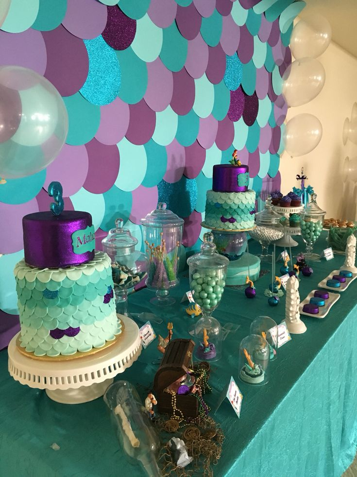3842 best images about mermaid party on pinterest for Ariel birthday decoration ideas