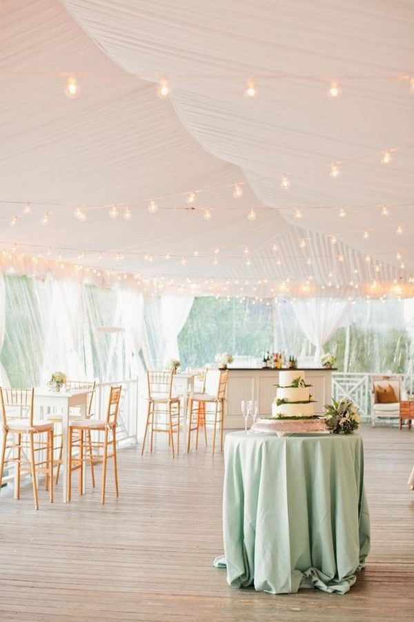 blush and mint wedding tent decor ideas / http://www.deerpearlflowers.com/wedding-tent-decoration-ideas/2/