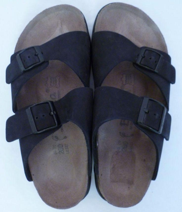 Birkenstock Betula Sandals Size 40 Black Suede Mens 7 - 7.5 Women 9 - 9.5 Cork #Birkenstock #Slides