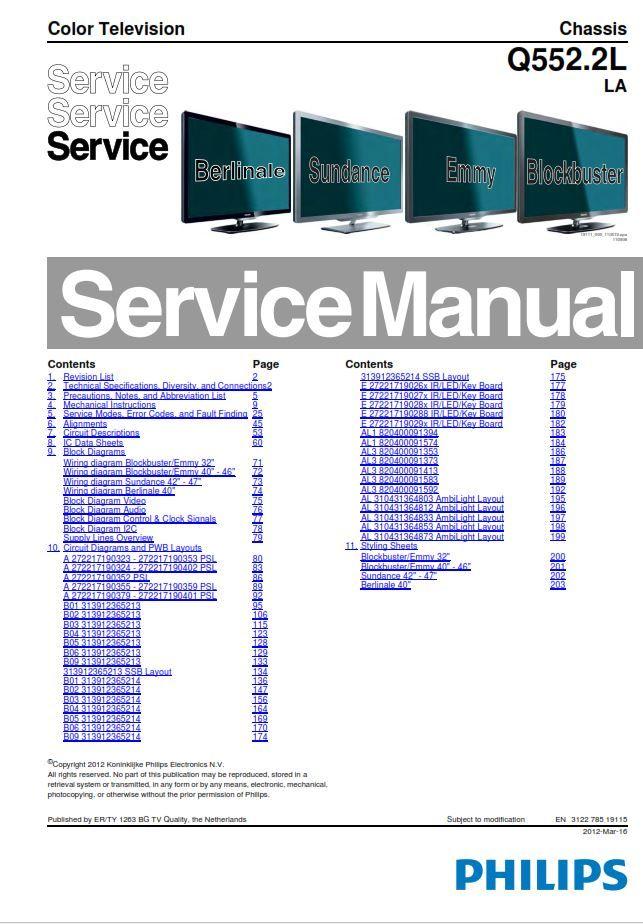 Philips 46pfl7606d Tv Service Manual And Repair Instructions Philips Tv Services Manual