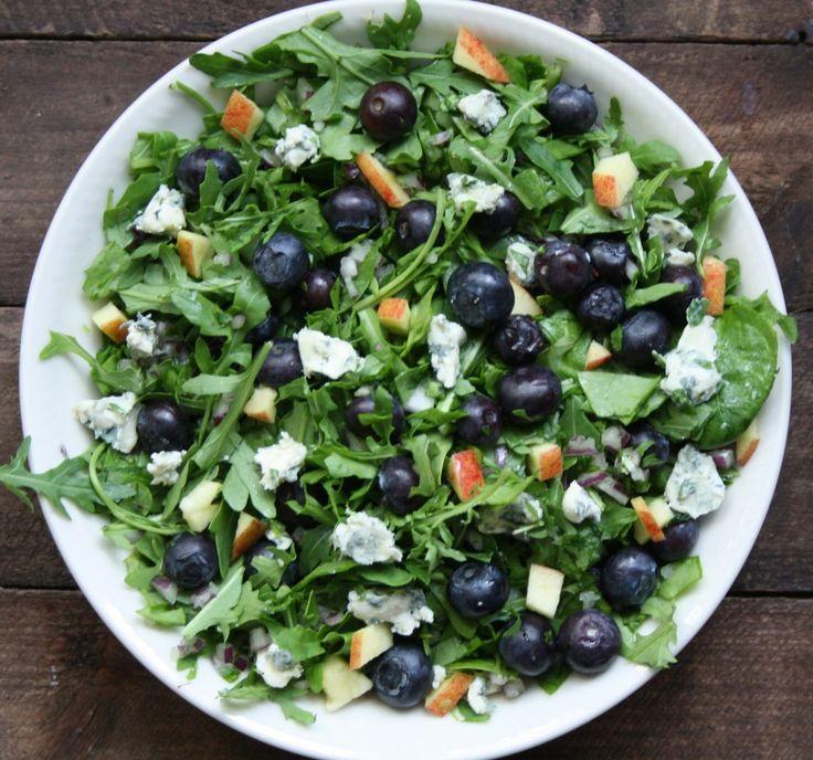 Blå salat - Linemad - 365 salater på 365 dage