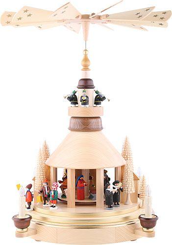 2 stöckige Pyramide Seiffener Kirche #weihnachtspyramide #weihnachten #advent