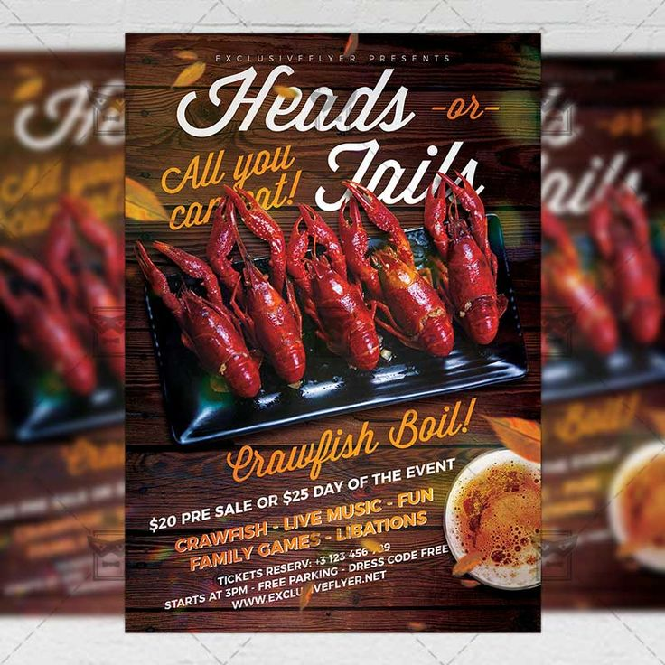 Massive Crawfish Boil Flyer Food A5 Template