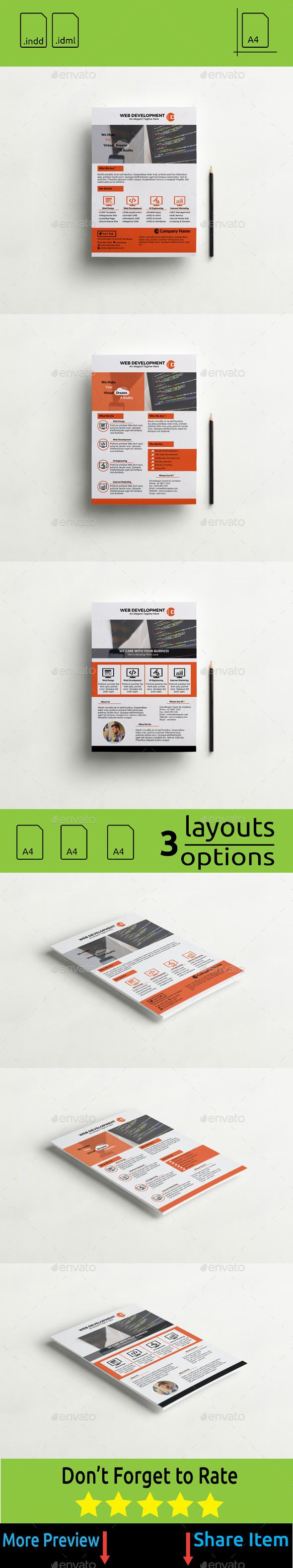 Flyer #Web #Apps and Web #Design Development - #Corporate #Flyers Download here: https://graphicriver.net/item/flyer-web-apps-and-web-design-development/11250228?ref=alena994